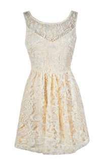 Cream Lace Dress, Beige Lace Dress, Ivory Lace Dress, Lace ...