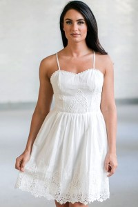 White Eyelet Dress, Cute White Summer Dresses Online ...