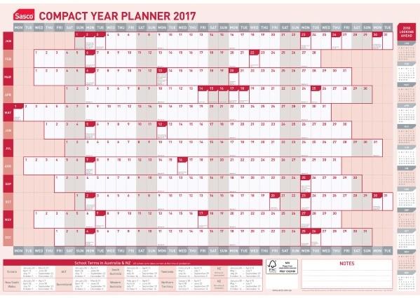 2017 Yearly Calendar Kit House Of Doolittletm Recycled Poster Style Reversible Ok Office School Bulk Stationery Supplies Sydney Brisbane