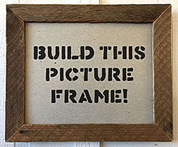 make a picture frame from scrap wood