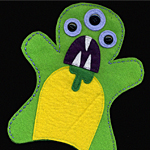 Monster Felt Hand Puppet