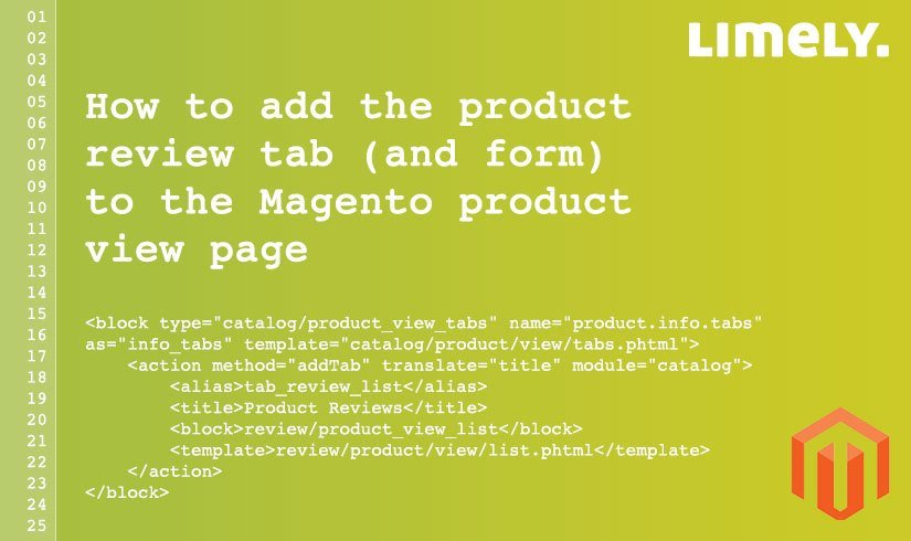 How to add the product review tab (and form) to the Magento - product review template