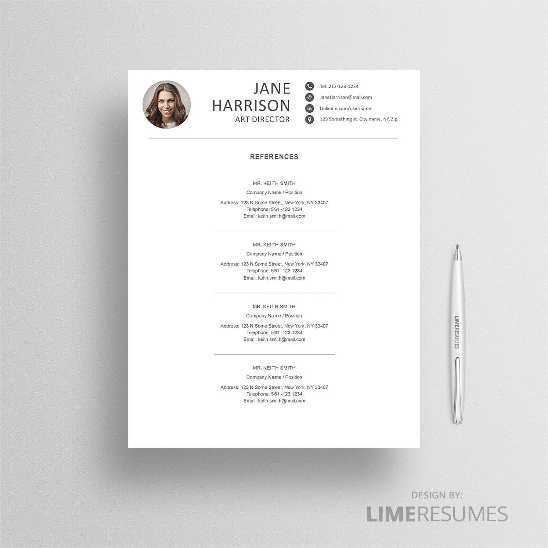 creative cv template word