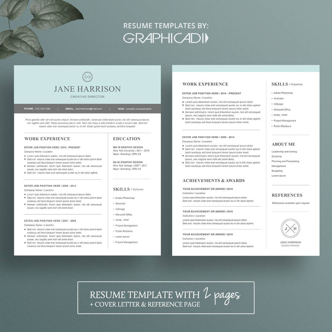 contemporary resumes template