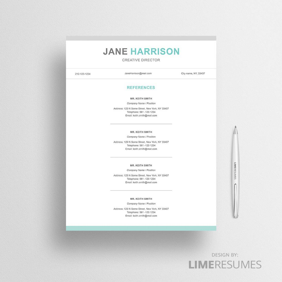example of resume reference page