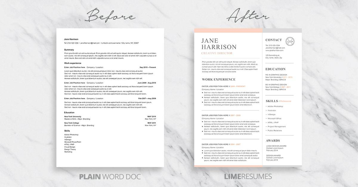 Professional Resume Templates with Cover Letters \u2013 LimeResumes - fill in resume templates