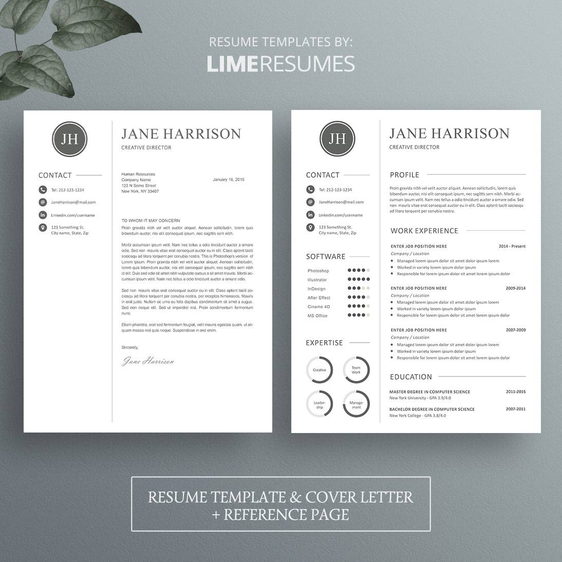 cover letter resume reference page