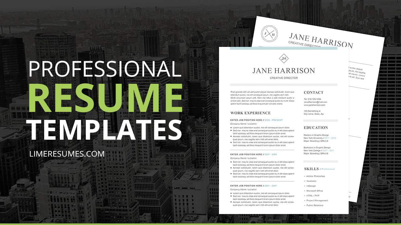 downloadable resume letter templates
