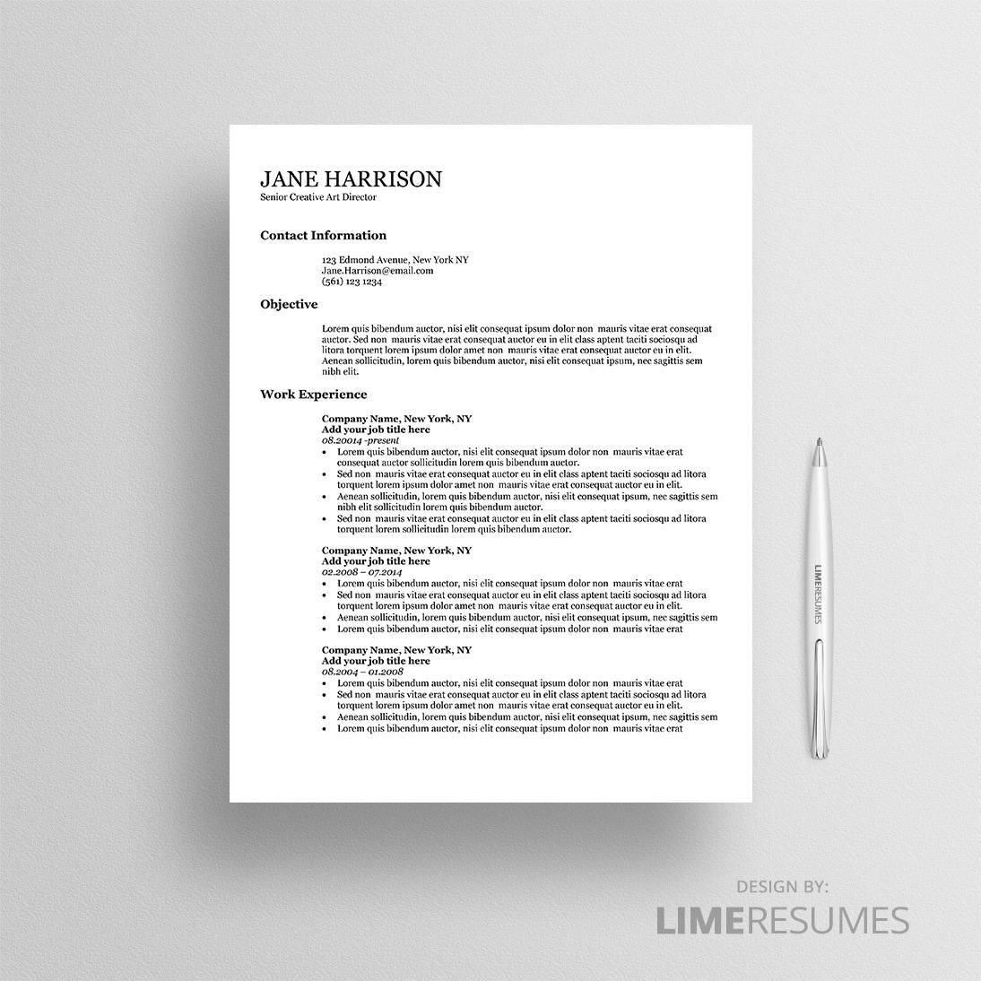 resume templates optimized