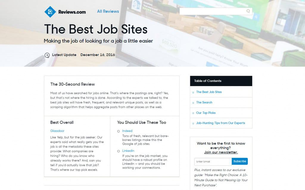 Best Job Sites for Job-Seekers - Where to Find The Best Jobs