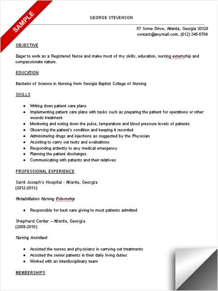 Nursing Student Resume Sample - LimeResumes - student nurse resume objective