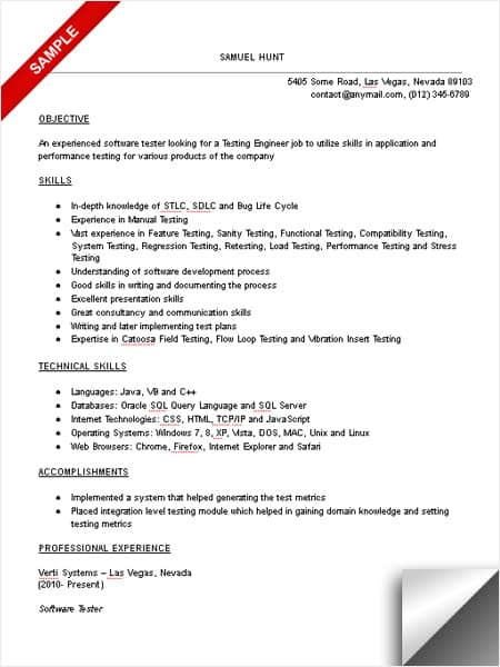 sample test engineer resume - Onwebioinnovate - field test engineer sample resume