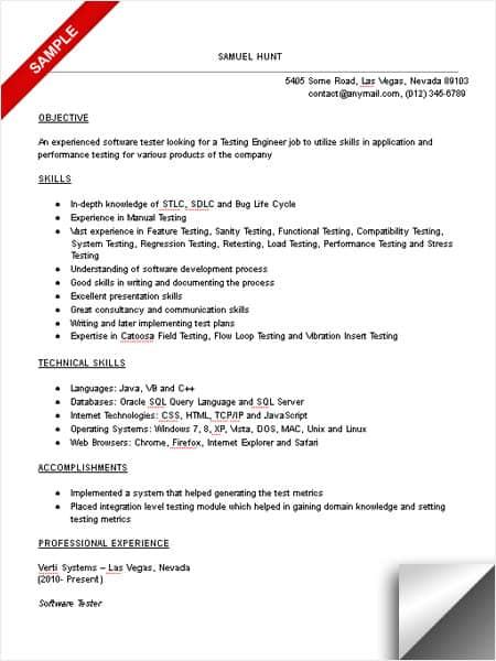 mainframe experience resume sample