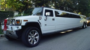 18 passenger white wedding H2 Hummer Limo in CT image