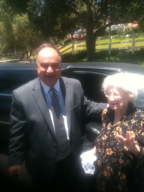 100th Birthday Party Limousine Riverside to San Diego