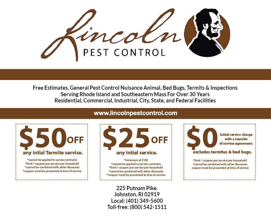 Monthly Specials - Lincoln Pest Control - residential service contracts