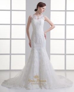 Small Of Illusion Wedding Dresses
