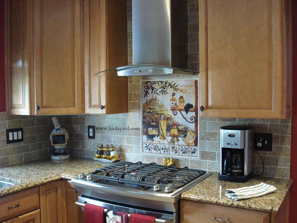 Tuscan design Kitchen Tile Backsplash kitchen backsplashes