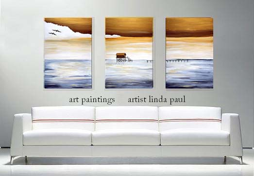 Large Wall Art Work for Sale - Contemporary Seascape Canvas - living room canvas art