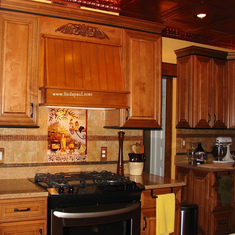 Tuscan design Kitchen Tile Backsplash backsplash kitchen