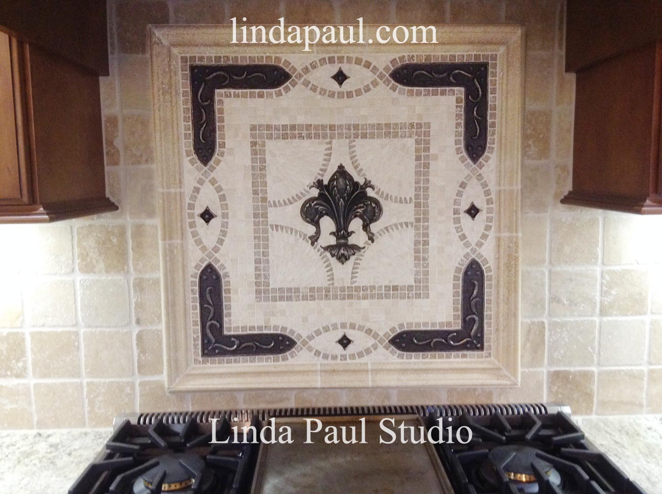 Kitchen Backsplash Medallions tile medallions for backsplash. cool noce brown fleur dis lis