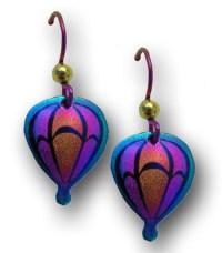 LindaRae Jewelry ~ Medium Niobium Hot Air Balloon Earrings