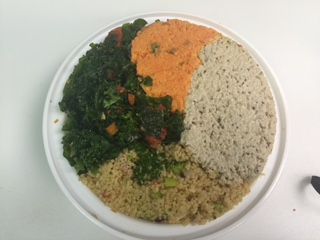 Kale Salad, Carrot Salad, Vegetarian Chicken Salad, Cous Cous