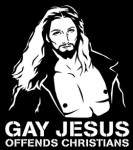 gay jesus offends christians t-shirt