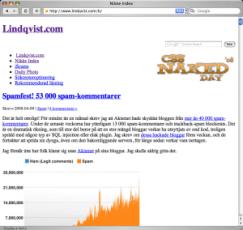 Nikke Index utan CSS-formatering
