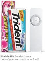 Ipod Shuffle: Apple Computer Inc - Stor (eller liten) som ett paket tuggummi.