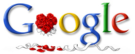 Valentine logo: Google - The Google valentine logo of 2005.