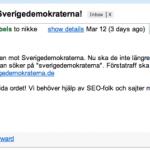 Sverigedemokraterna.de utmanar Sverigedemokraterna.se