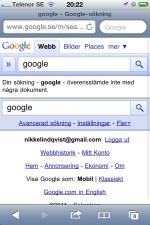 Google är tomt