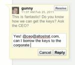 Wave-kommentarer i Google Docs