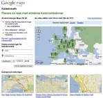 Google maps hittar nu i lokaltrafiken