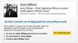 Jerry Silfwer har varit riktigt smart i sin presentation på LinkedIn.