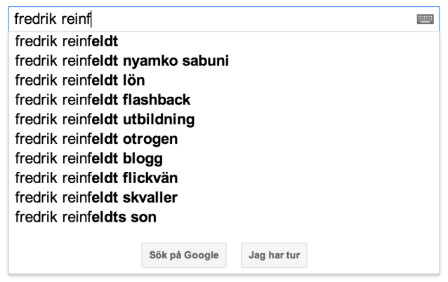 fredrik reinfeldt suggest