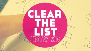 Clear The List: February Language Goals!