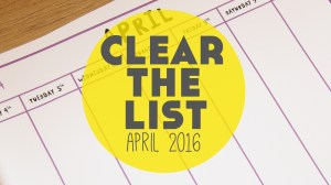 Language Learning Goals: Clear The List – April 2016
