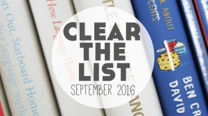 Language Learning Goals: Clear The List – September 2016
