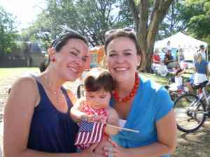 My Sister Marcie and I (and Baby Kate with the cheeks)