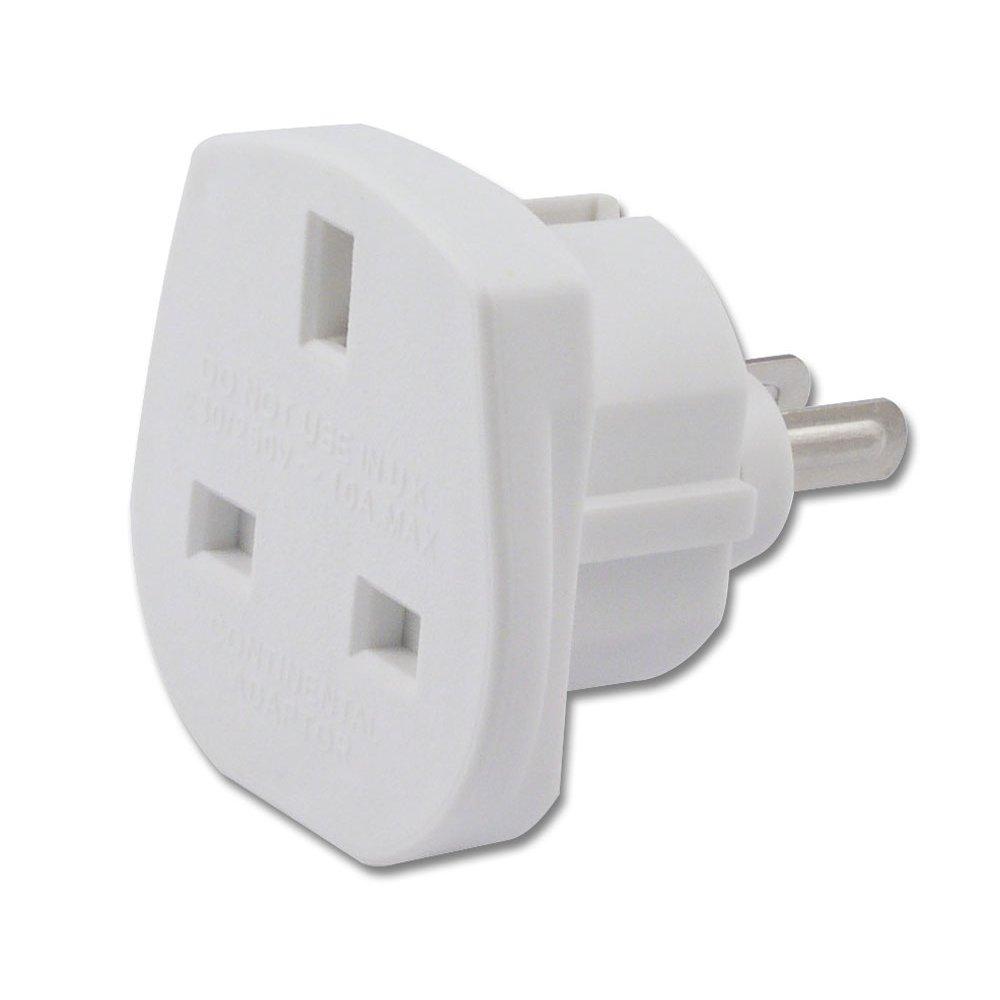 Uk to us australian adapter travel plug white