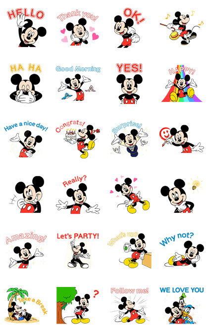 Cute Disney Wallpapers For Iphone Mickey Mouse Motion Voice Amp Animated Line Stickers