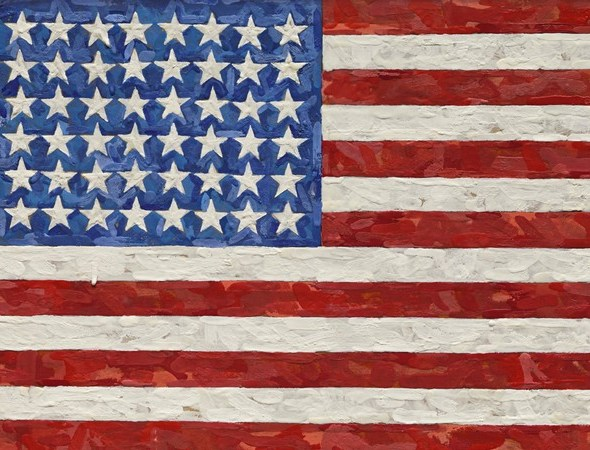 Il prossimo 11 novembre, Sotheby's presenterà alla Contemporary Art Evening Sale di New York una delle celebri bandiere di Jasper Johns.