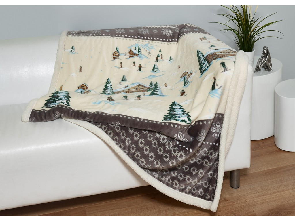 Elainer Festive St Mauritz Fleece Throw