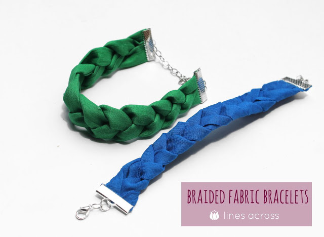 Braided Fabric Bracelets