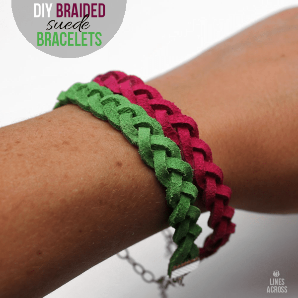 DIY Braided Suede Bracelets