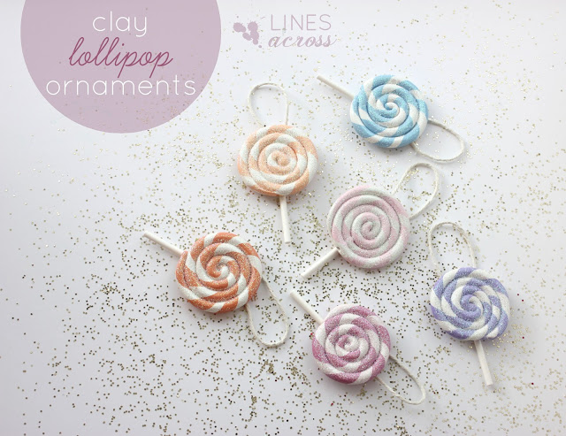 Clay Lollipop Ornaments