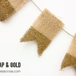Burlap and Gold Banner