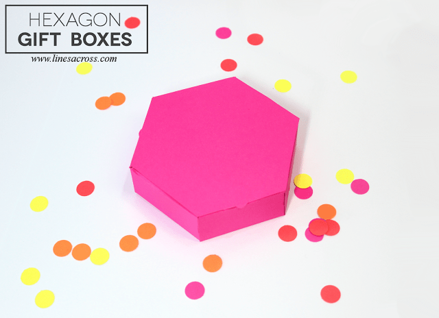Hexagon gift boxes - Find these free printable gift box templates here.